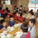 3~5歳児グループのランチルーム